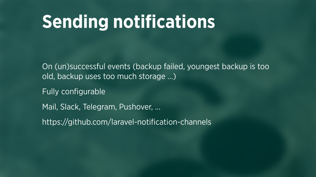 On (un)successful events (backup failed, younge...