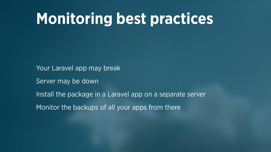 Your Laravel app may break Server may be down I...