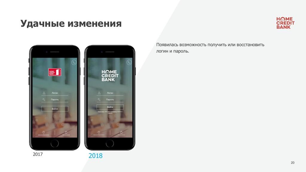 20 Удачные изменения 2017 2018 Появилась возмож...