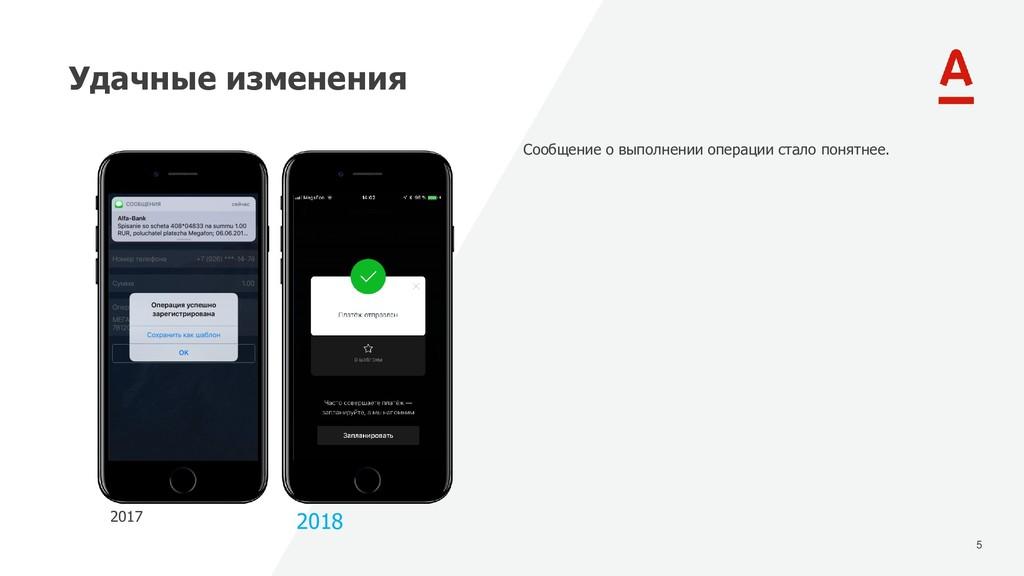 5 Удачные изменения 2017 2018 Сообщение о выпол...