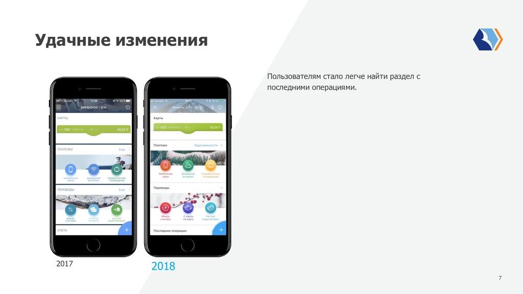 7 Удачные изменения 2017 2018 Пользователям ста...