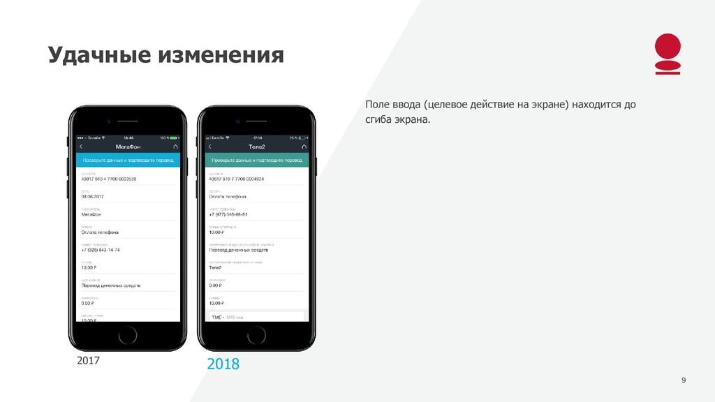 9 Удачные изменения 2017 2018 Поле ввода (целев...