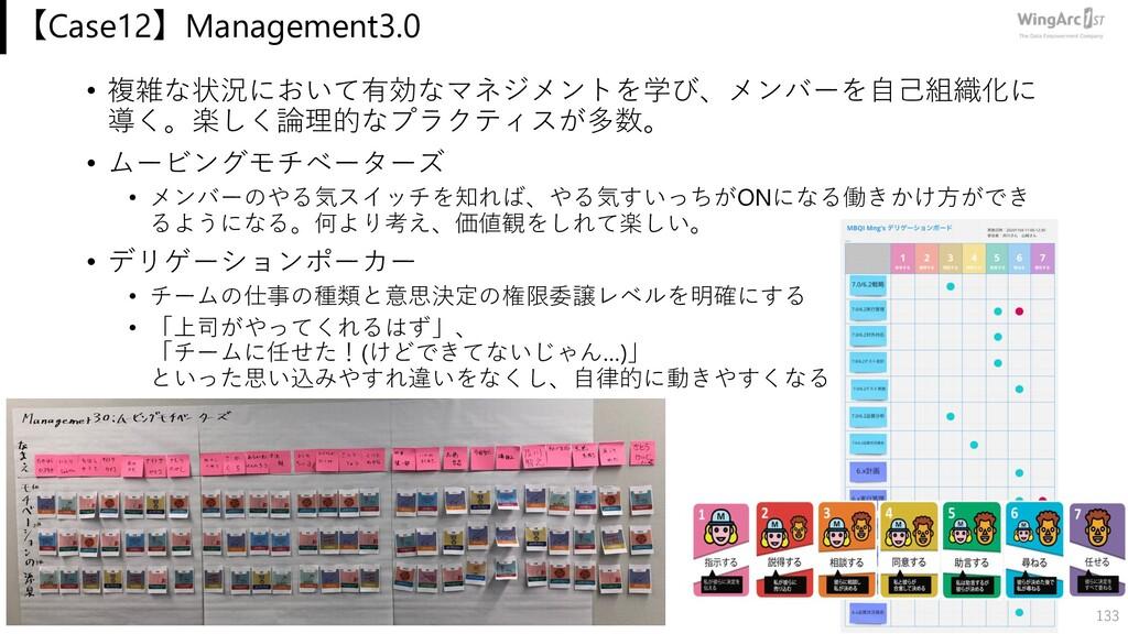 【Case12】Management3.0 • 複雑な状況において有効なマネジメントを学び、メ...