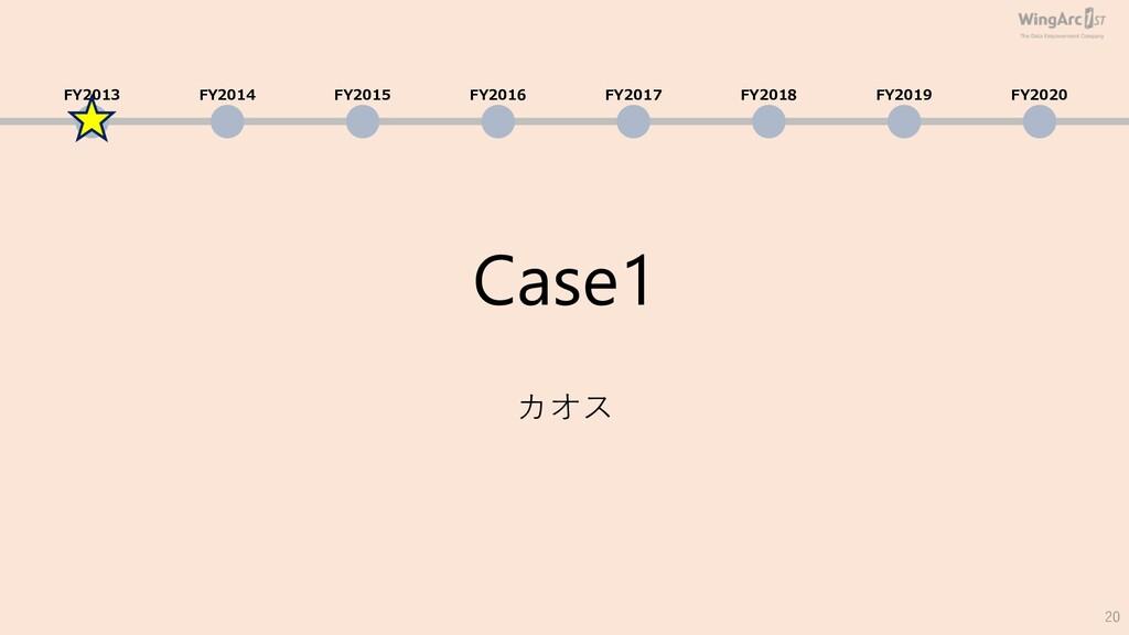 Case1 カオス 20 FY2013 FY2014 FY2015 FY2016 FY2017...