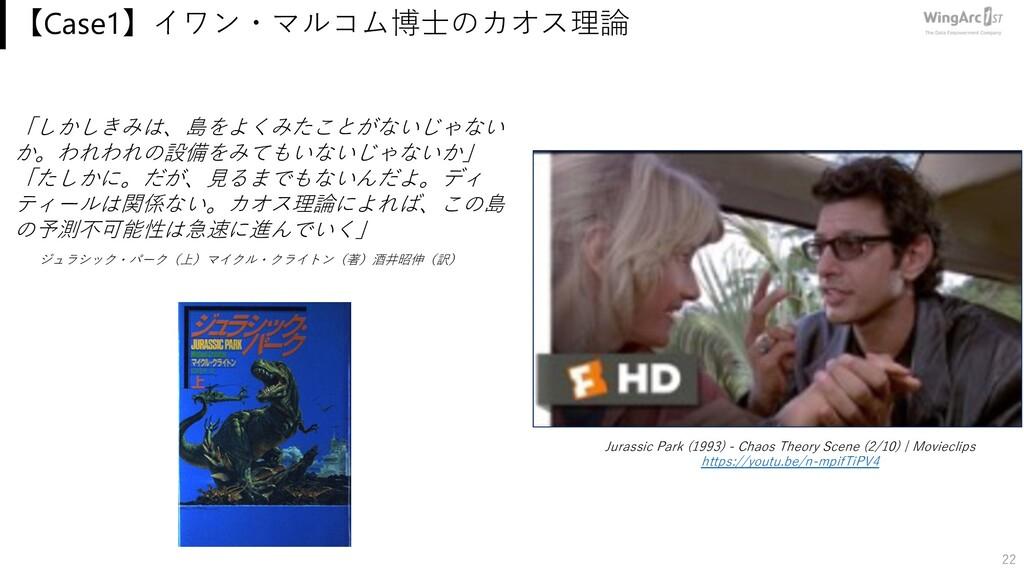 【Case1】イワン・マルコム博⼠のカオス理論 22 Jurassic Park (1993)...