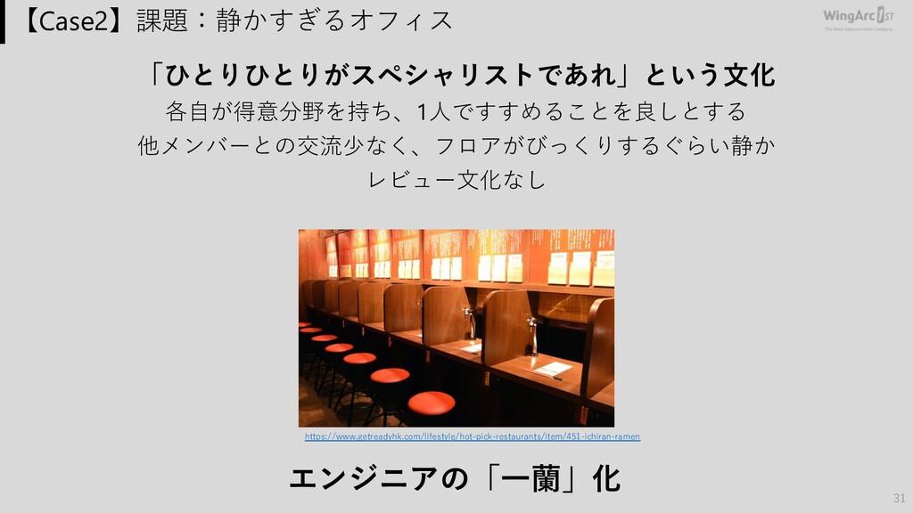 【Case2】課題:静かすぎるオフィス 「ひとりひとりがスペシャリストであれ」という⽂化 各⾃...