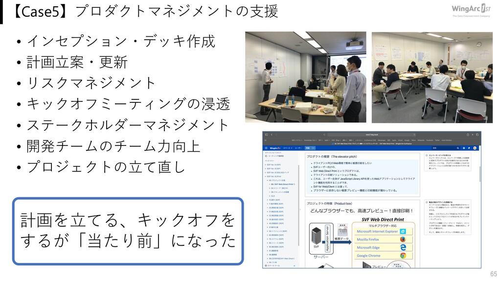 【Case5】プロダクトマネジメントの⽀援 • インセプション・デッキ作成 • 計画⽴案・更新...