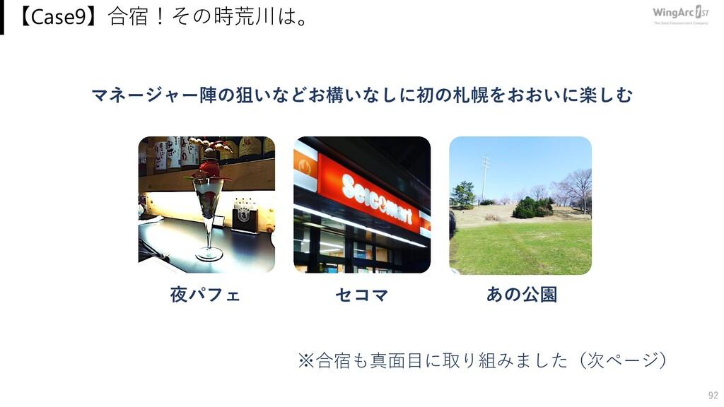 【Case9】合宿!その時荒川は。 92 マネージャー陣の狙いなどお構いなしに初の札幌をおおい...