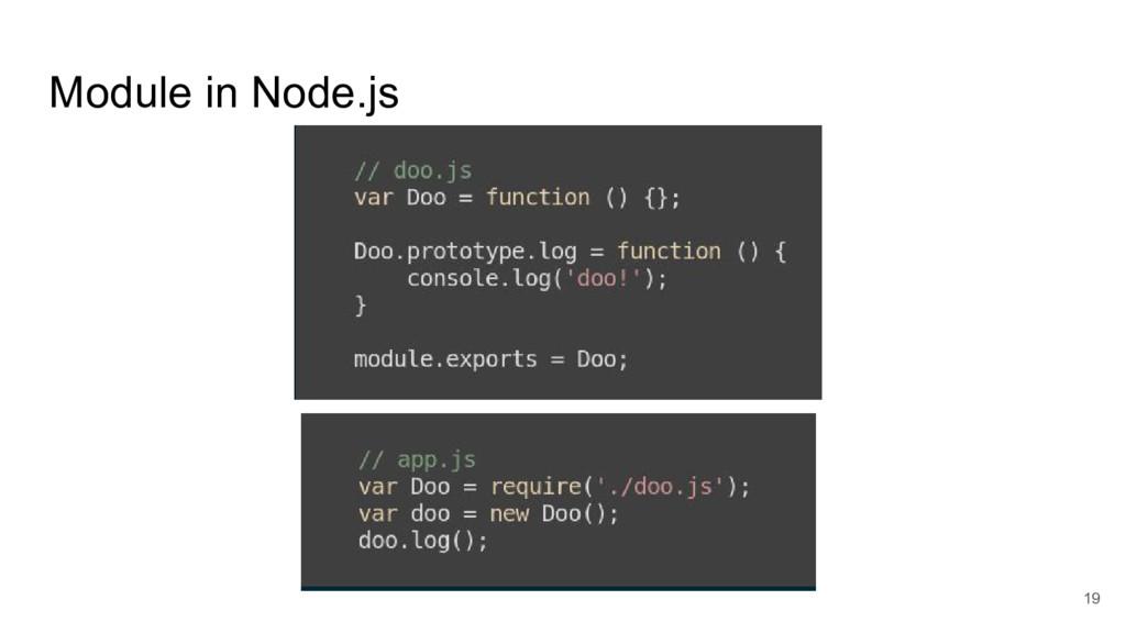 Module in Node.js 19