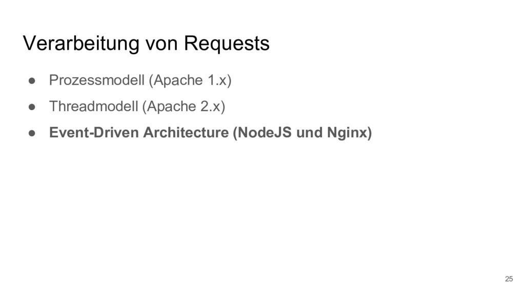 Verarbeitung von Requests ● Prozessmodell (Apac...