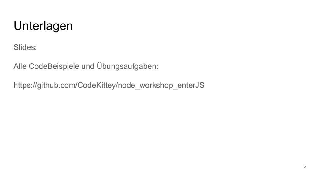 Unterlagen Slides: Alle CodeBeispiele und Übung...