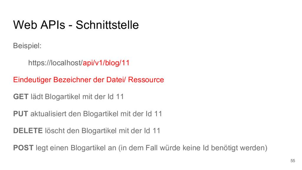 Web APIs - Schnittstelle Beispiel: https://loca...