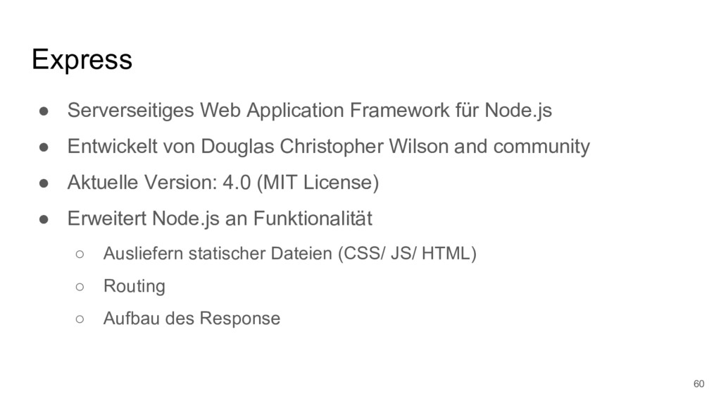 Express ● Serverseitiges Web Application Framew...