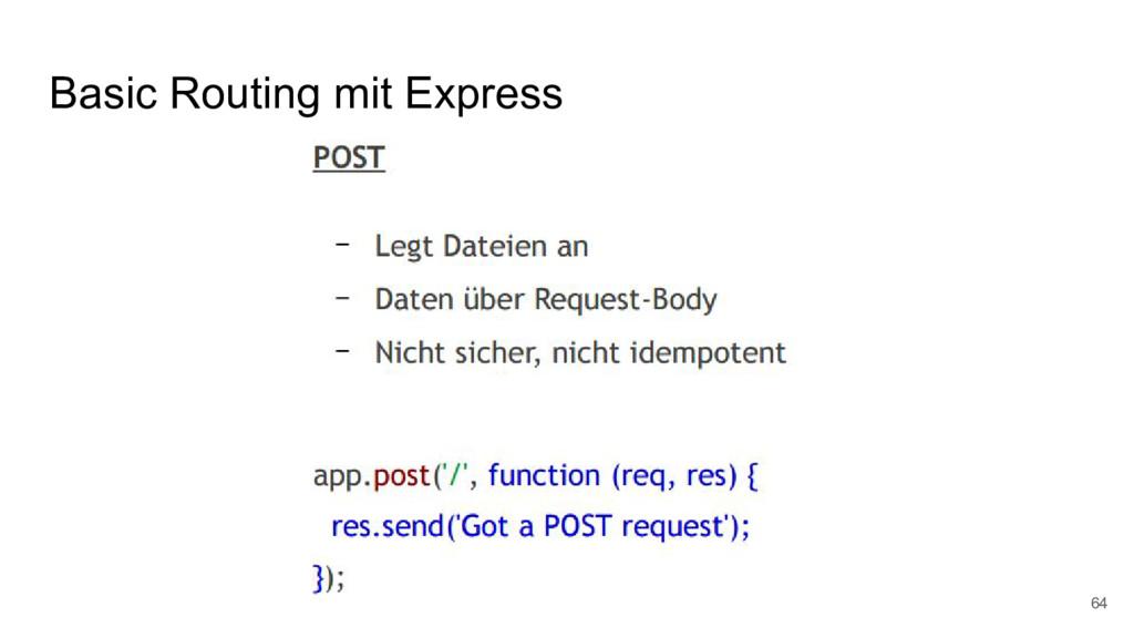 Basic Routing mit Express 64