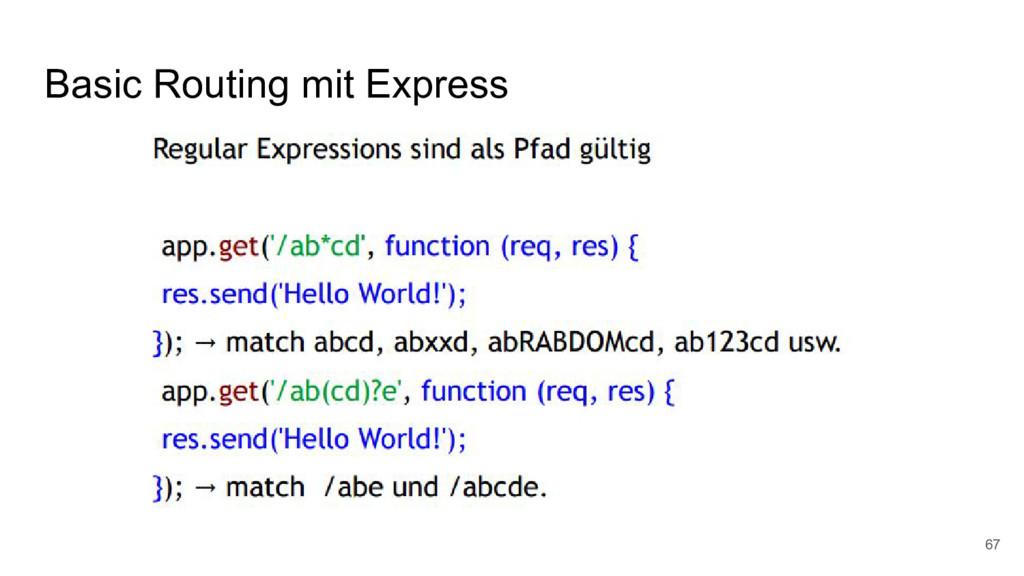 Basic Routing mit Express 67