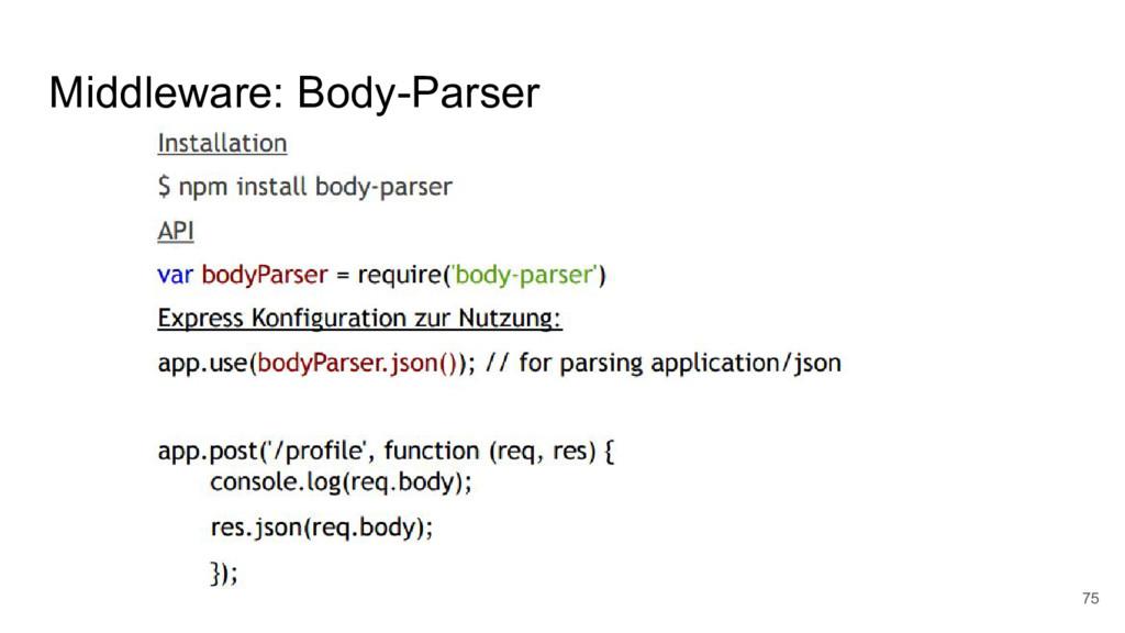 Middleware: Body-Parser 75