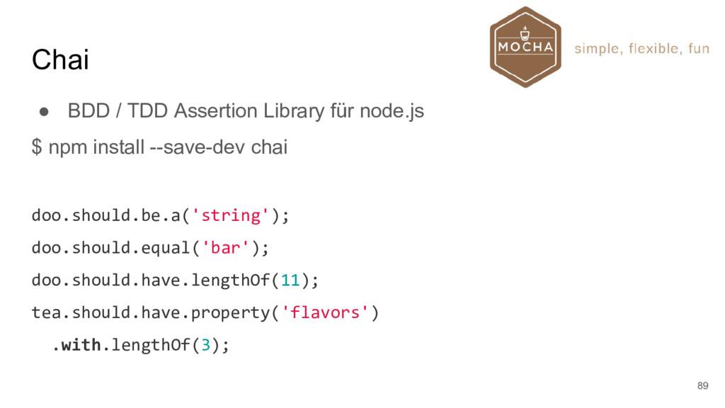 Chai ● BDD / TDD Assertion Library für node.js ...