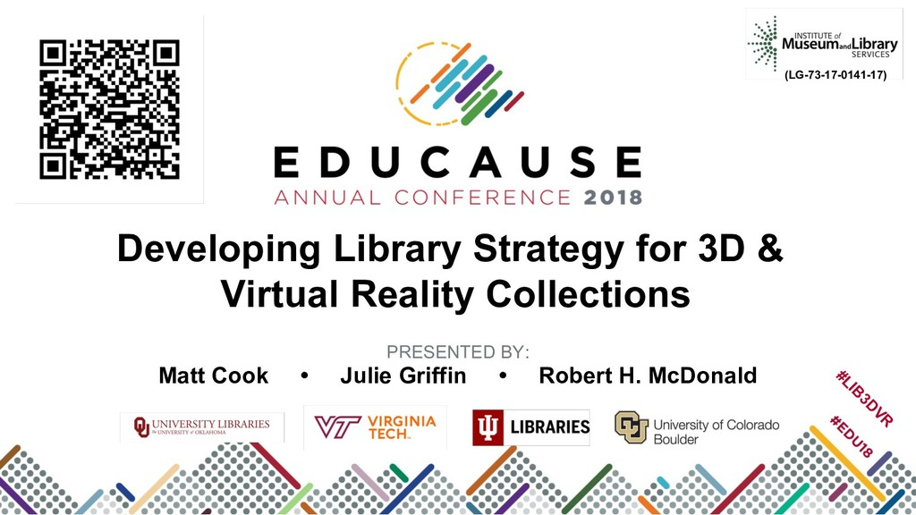 Developing Library Strategy for 3D & Virtual Re...