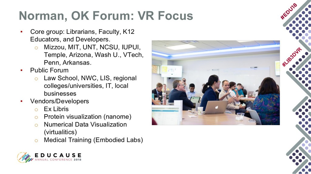 #LIB 3D VR ▪ Core group: Librarians, Faculty, K...