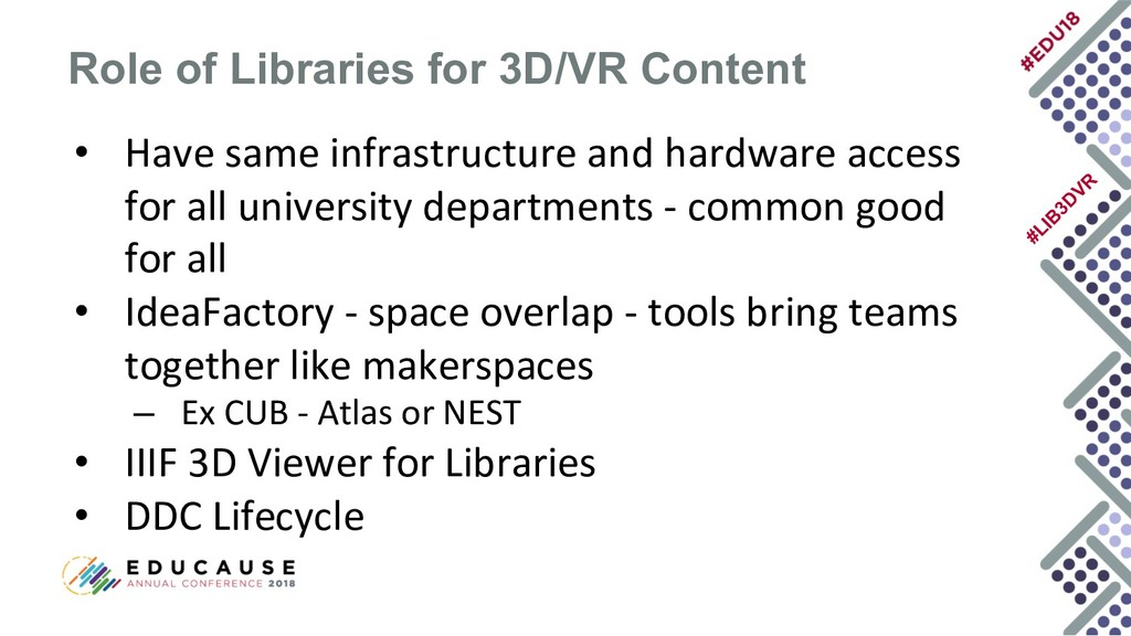 #LIB 3D VR • Have same infrastructure and hardw...