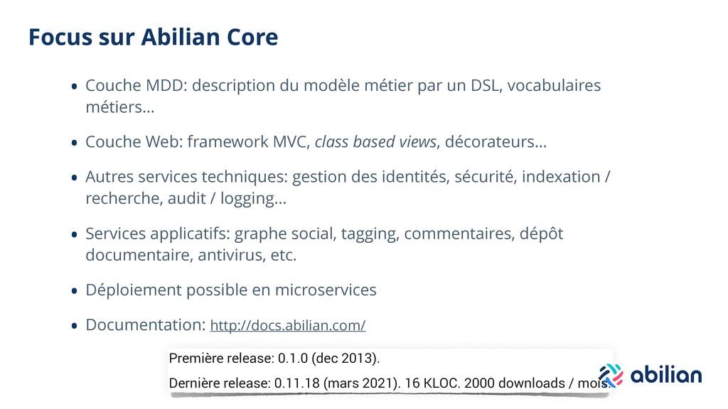 Focus sur Abilian Core • Couche MDD: descriptio...