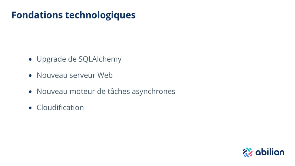 Fondations technologiques • Upgrade de SQLAlche...
