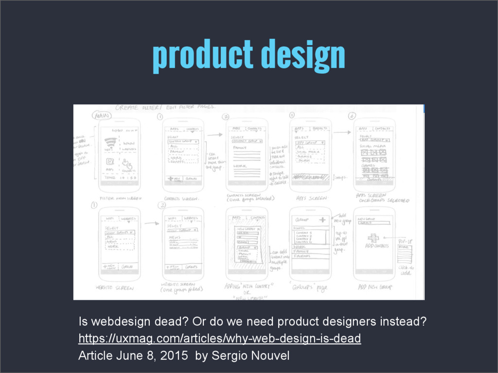 product design Is webdesign dead? Or do we need...