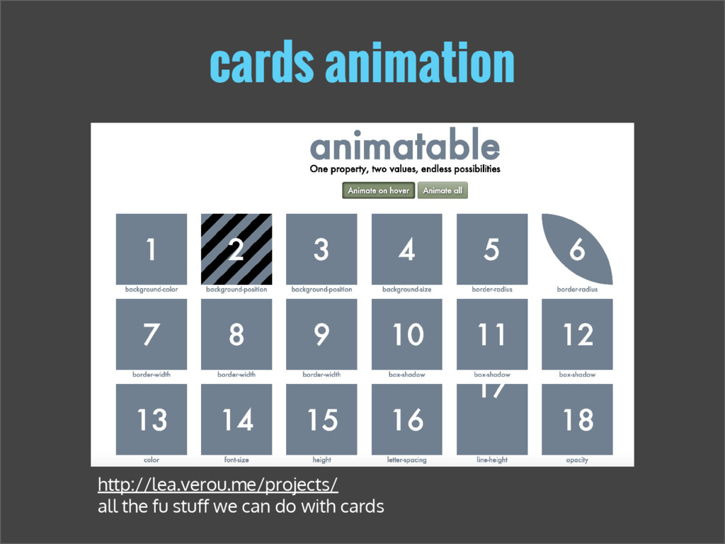 cards animation http://lea.verou.me/projects/ a...