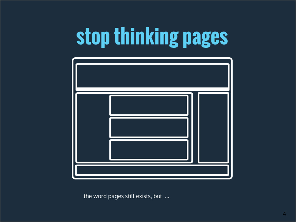 stop thinking pages the word pages still exists...