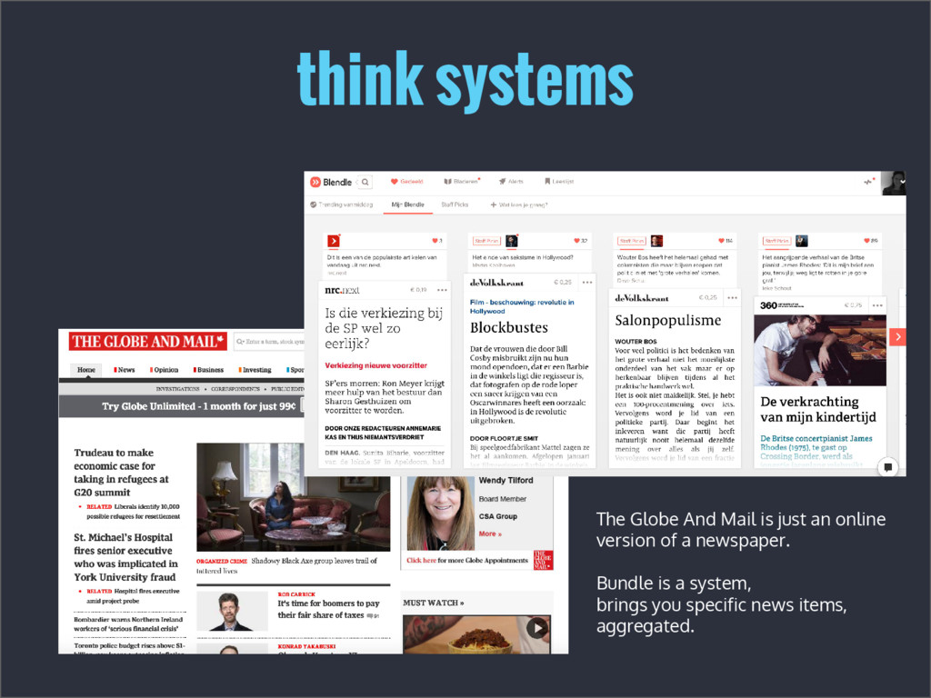 think systems The Globe And Mail is just an onl...