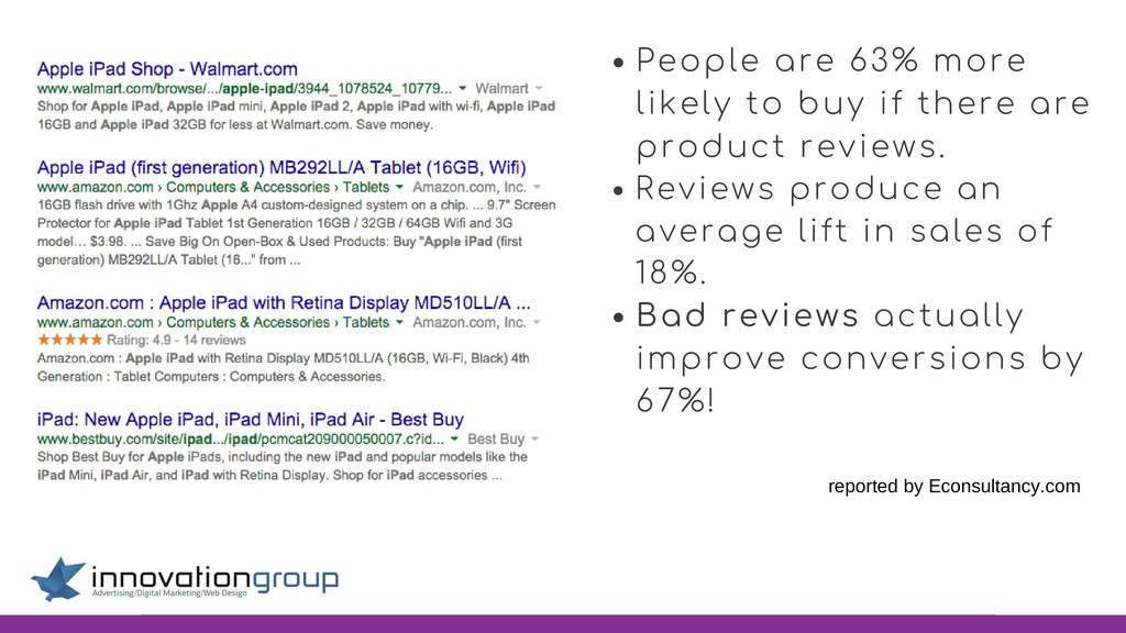 People are 63% more likely to buy if there are ...