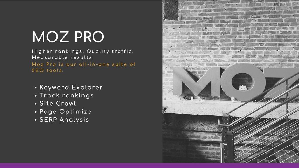 Keyword Explorer Track rankings Site Crawl Page...
