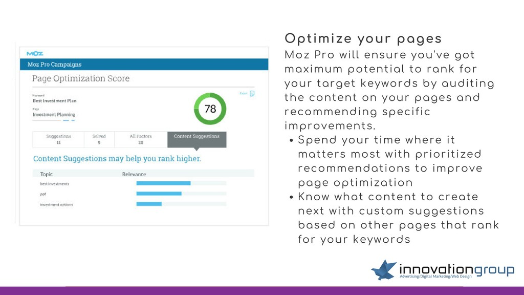 Moz Pro will ensure you've got maximum potentia...
