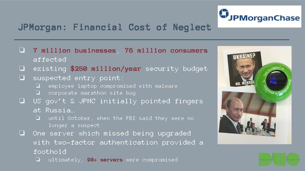 JPMorgan: Financial Cost of Neglect ❏ 7 million...