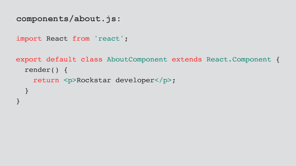 components/about.js: import React from 'react';...