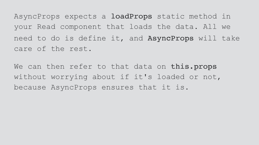 AsyncProps expects a loadProps static method in...
