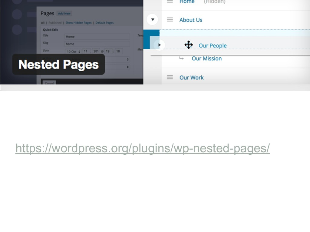 https://wordpress.org/plugins/wp-nested-pages/