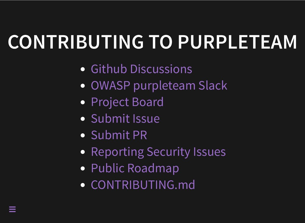 CONTRIBUTING TO PURPLETEAM Github Discussions O...