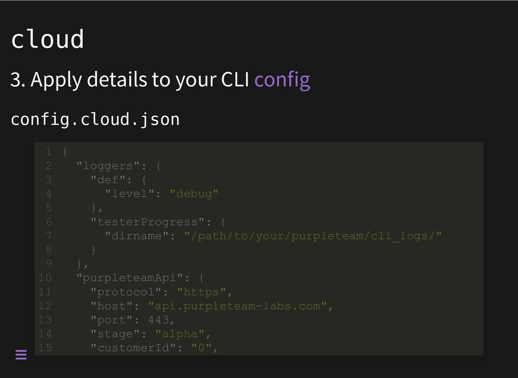 cloud 3. Apply details to your CLI config.cloud...