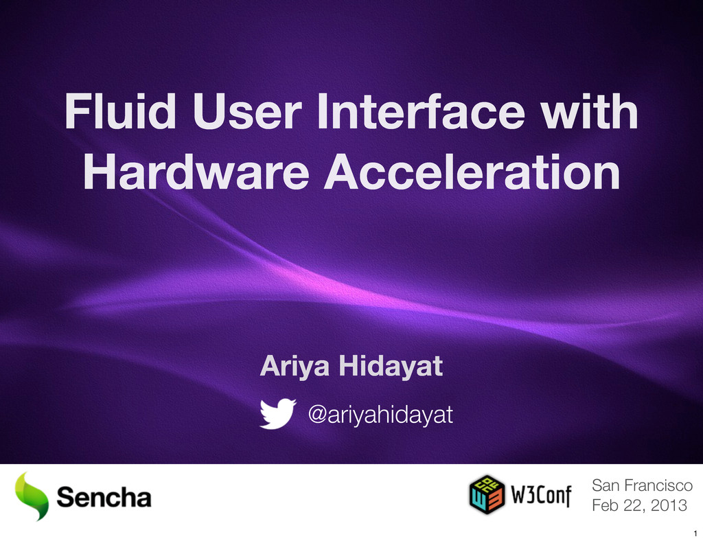 Fluid User Interface with Hardware Acceleration...