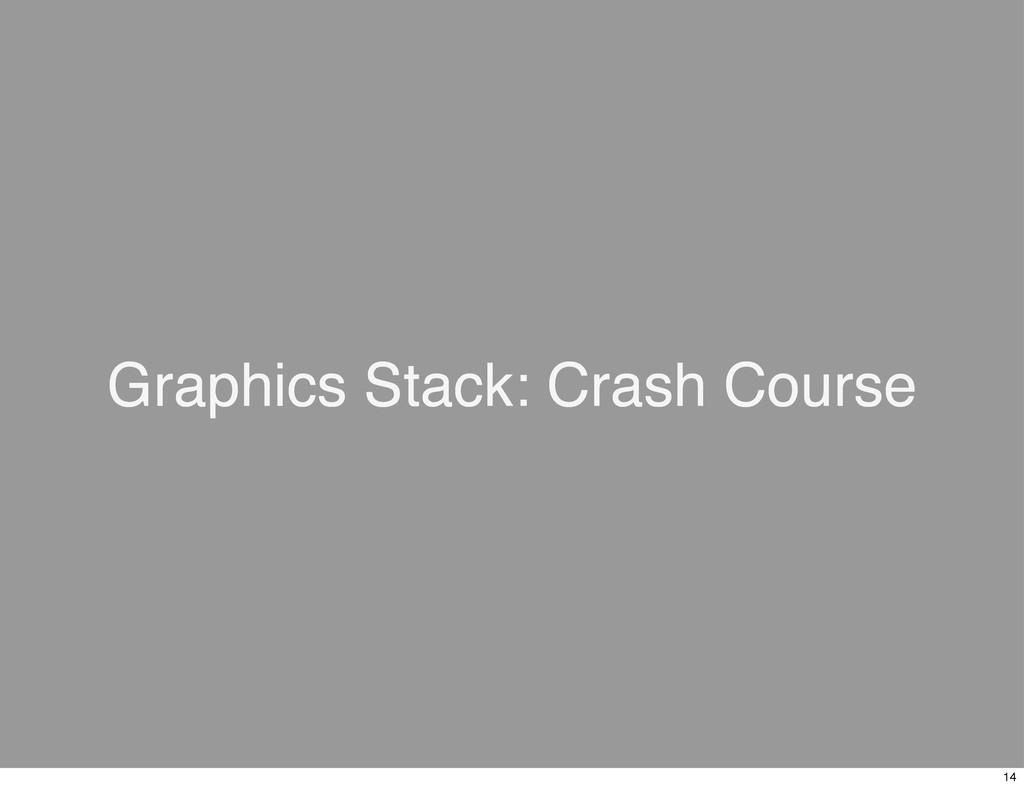 Graphics Stack: Crash Course 14