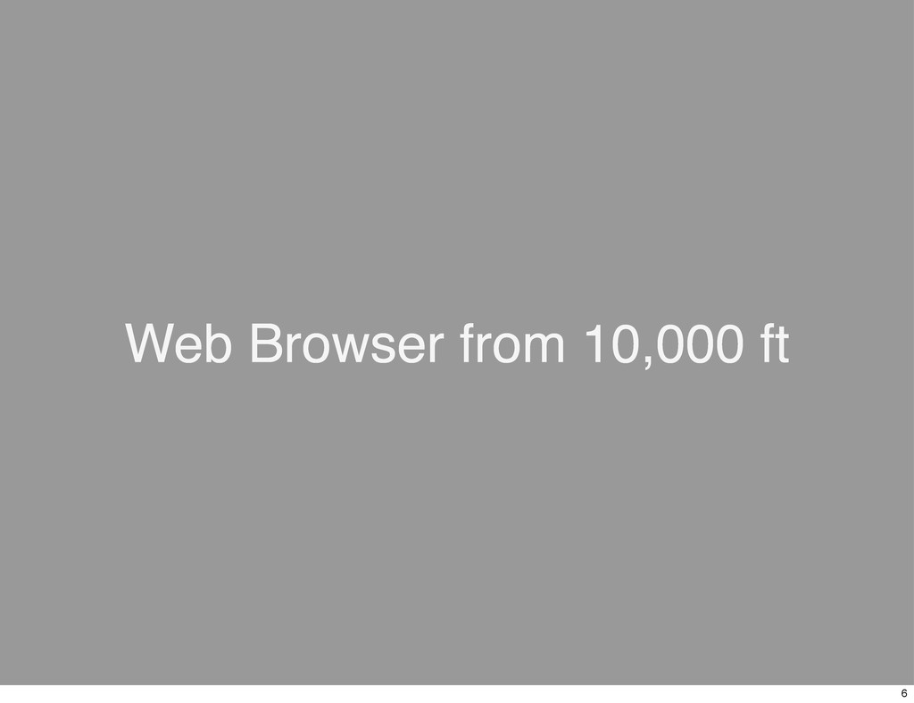 Web Browser from 10,000 ft 6