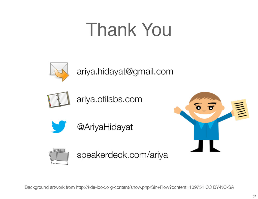 Thank You ariya.hidayat@gmail.com @AriyaHidayat...
