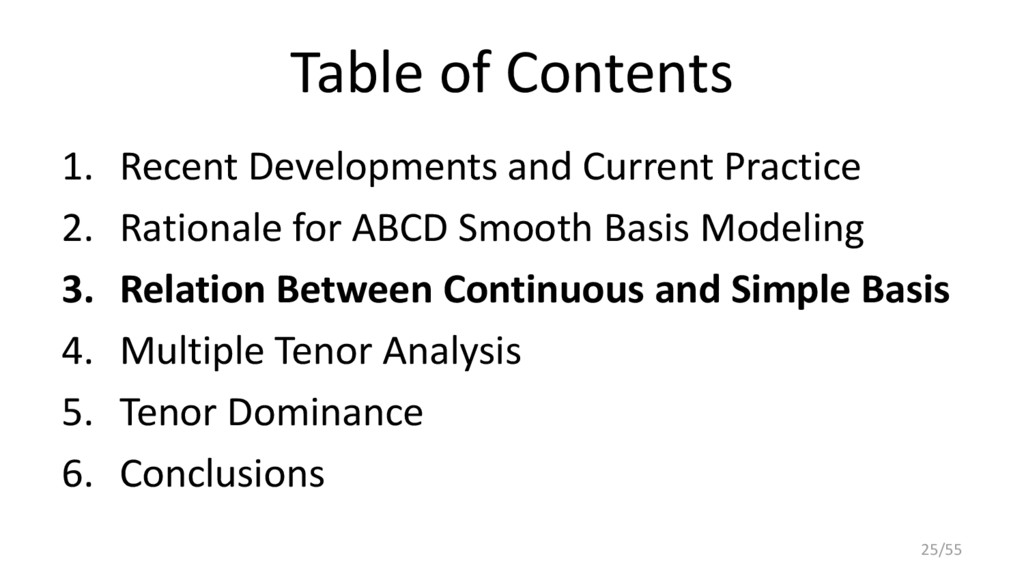Table of Contents 1. Recent Developments and Cu...