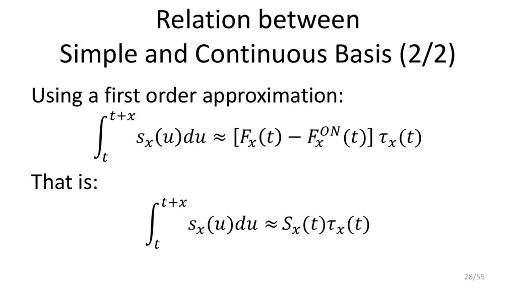 Relation between Simple and Continuous Basis (2...