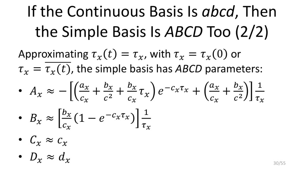 If the Continuous Basis Is abcd, Then the Simpl...