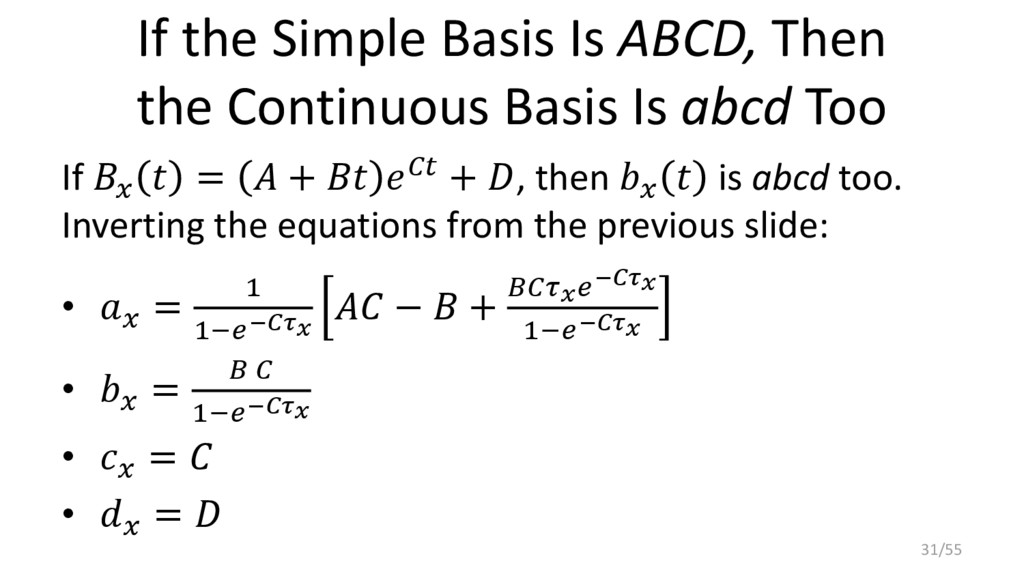 If the Simple Basis Is ABCD, Then the Continuou...