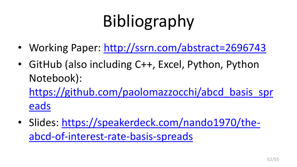 Bibliography • Working Paper: http://ssrn.com/a...