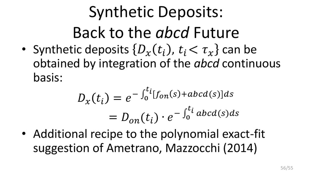 Synthetic Deposits: Back to the abcd Future • S...
