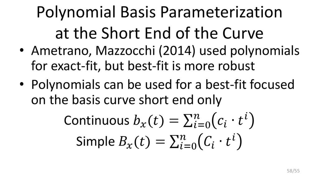 Polynomial Basis Parameterization at the Short ...